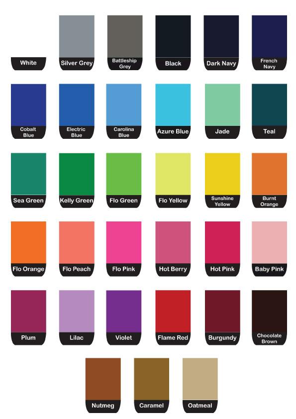 Colour Chart Atlantic Weaveatlantic Weave