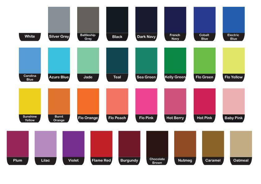 Soft Webbing Colour Chart Atlantic Weaveatlantic Weave